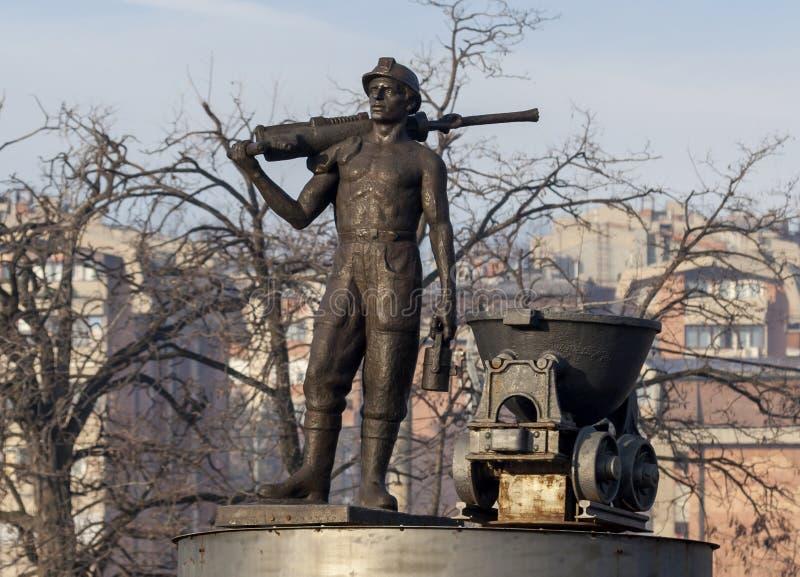 Statue du mineur 1 images libres de droits