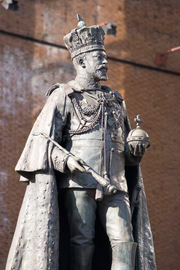 Statue du Roi Edouard VII, s'affichant image stock