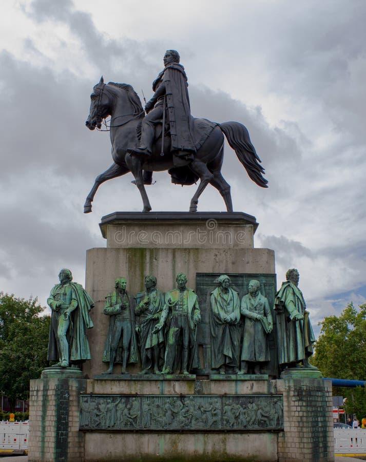Statue du Roi Friedrich Wilhelm III, Cologne images libres de droits