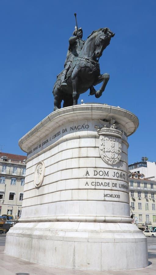 Statue du Roi João I, Lisbonne, Portugal photo stock