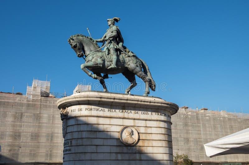 Statue du Roi John ' à f Praca DA Figueira (place du figuier) à Lisbonne, Portugal photo stock