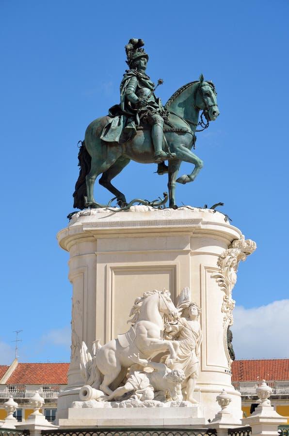 Statue du Roi Jose Lisbon Portugal images libres de droits