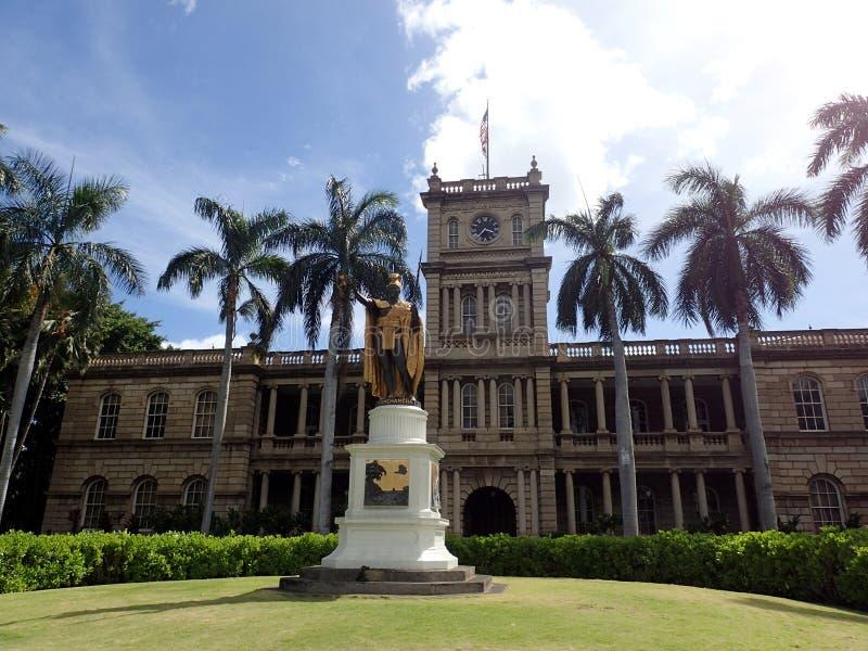 Statue du Roi Kamehameha ? Honolulu du centre photos stock