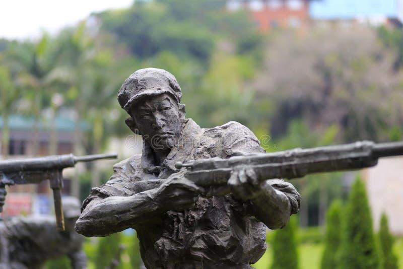 Statue du tir de soldat photos stock