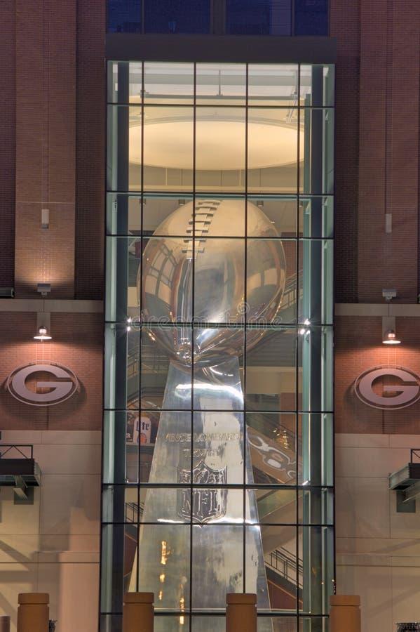 Statue du trophée de Lombardi photos stock