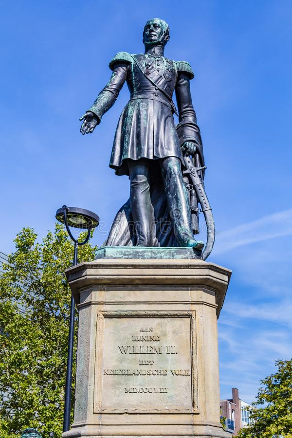 Statue Dutch King William II, Netherlands stock photography