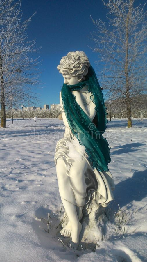 Statue einer Frau lizenzfreie stockbilder