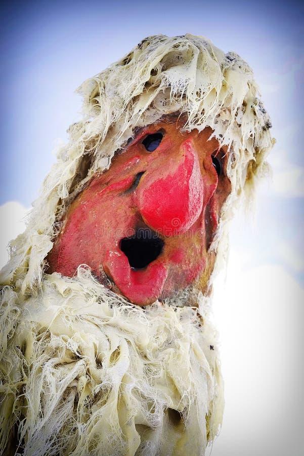 Statue einer traditionellen norwegischen Schleppangel in Norwegen Abschluss oben lizenzfreies stockbild