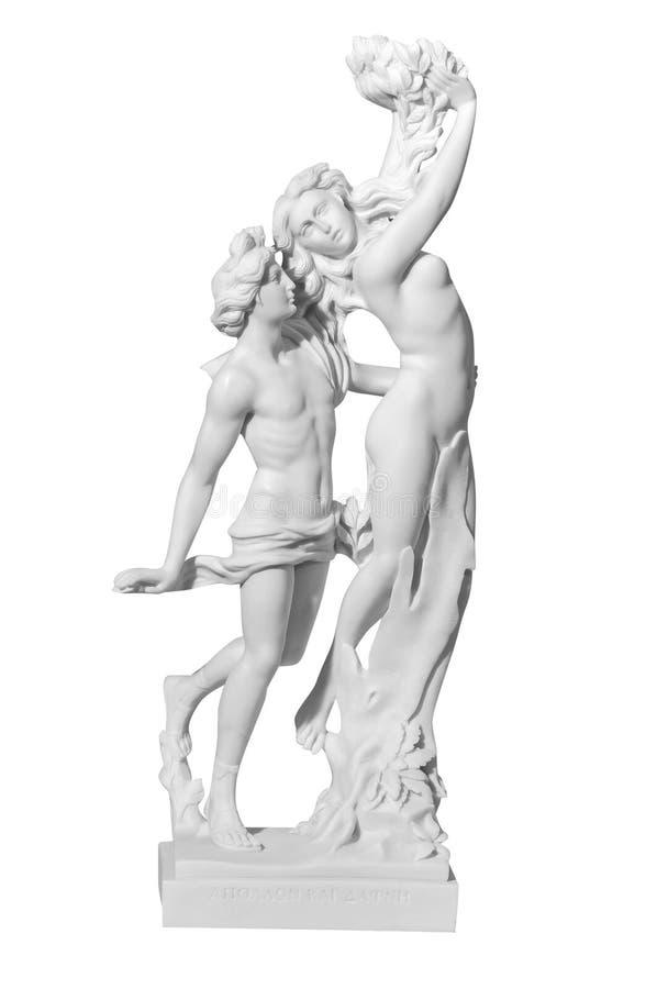 Statue eines Paares auf einem weißen Hintergrund lizenzfreie stockbilder