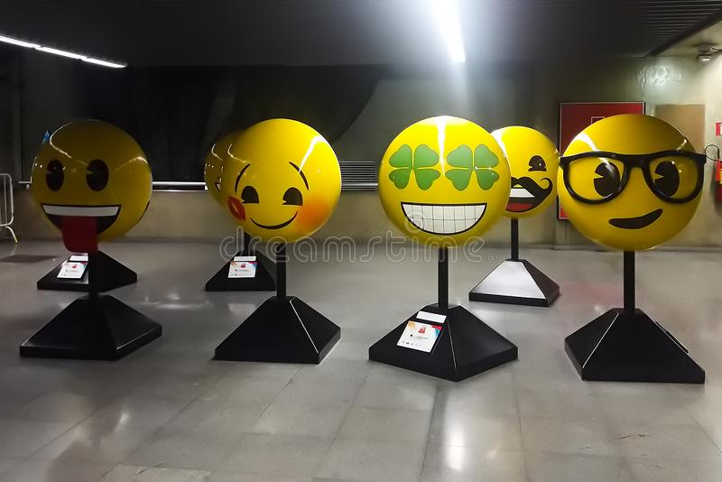 Statue of emotions in yellow royalty free stock photos