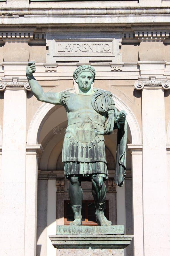 Statue of emperor Constantine royalty free stock photos