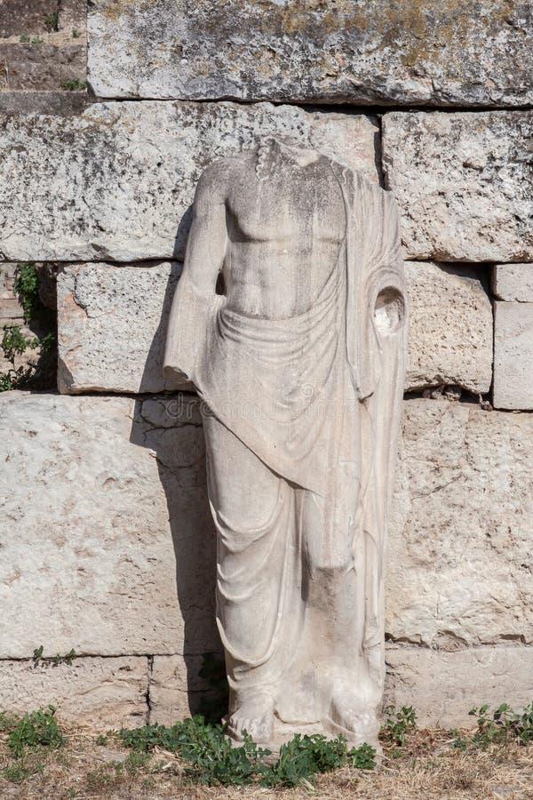 Statue En Agora Romaine Athènes Photos stock