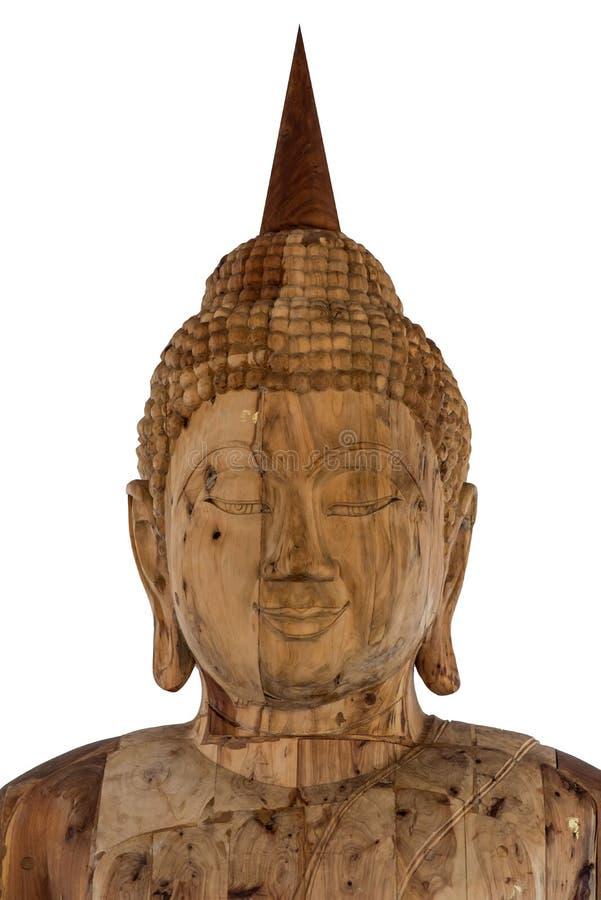 Statue en bois de Bouddha images stock