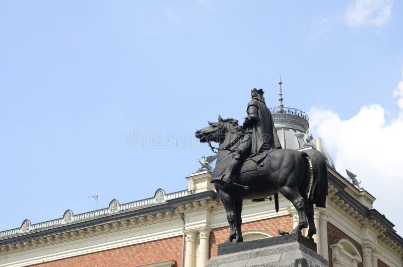Statue en bronze équestre photographie stock libre de droits