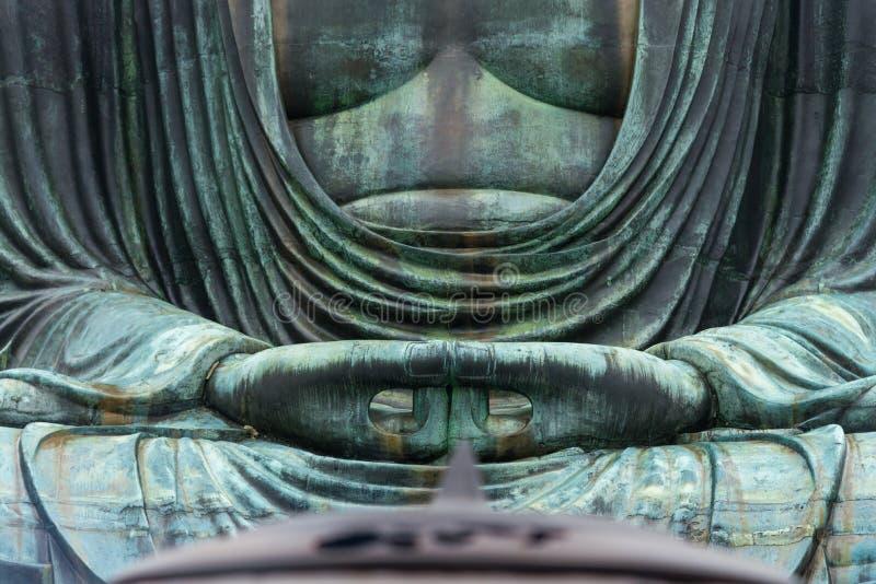 Statue en bronze célèbre monumentale du grands Bouddha et x28 ; Daibutsu& x29 ; photo libre de droits