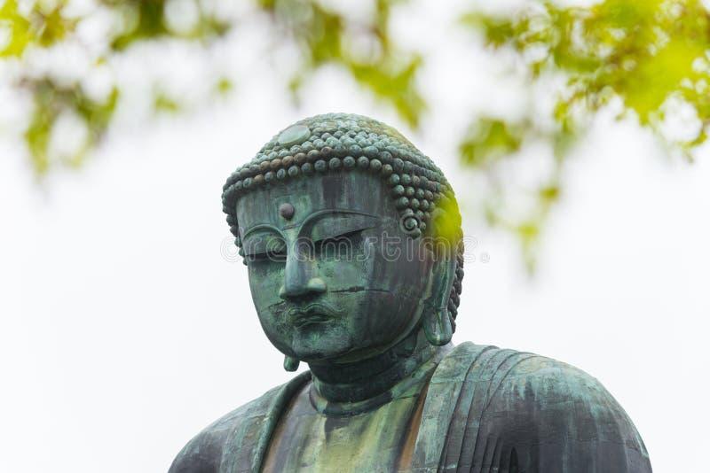 Statue en bronze célèbre monumentale du grands Bouddha et x28 ; Daibutsu& x29 ; image stock
