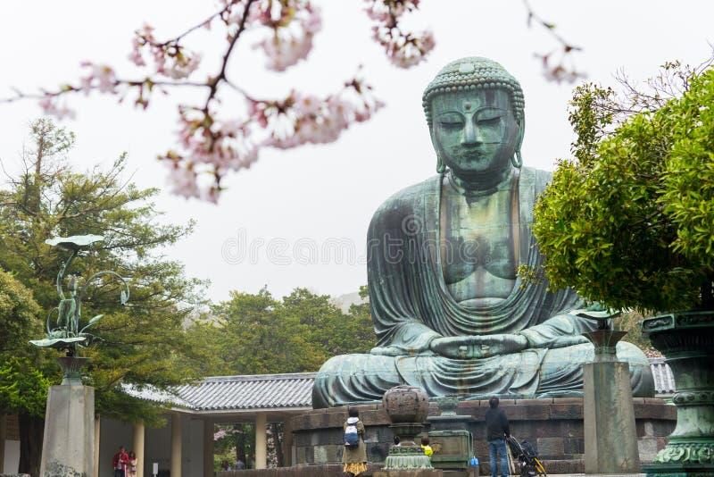 Statue en bronze célèbre monumentale du grands Bouddha et x28 ; Daibutsu& x29 ; images libres de droits