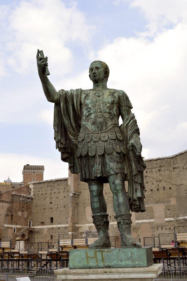 Statue en bronze de Nerva image libre de droits