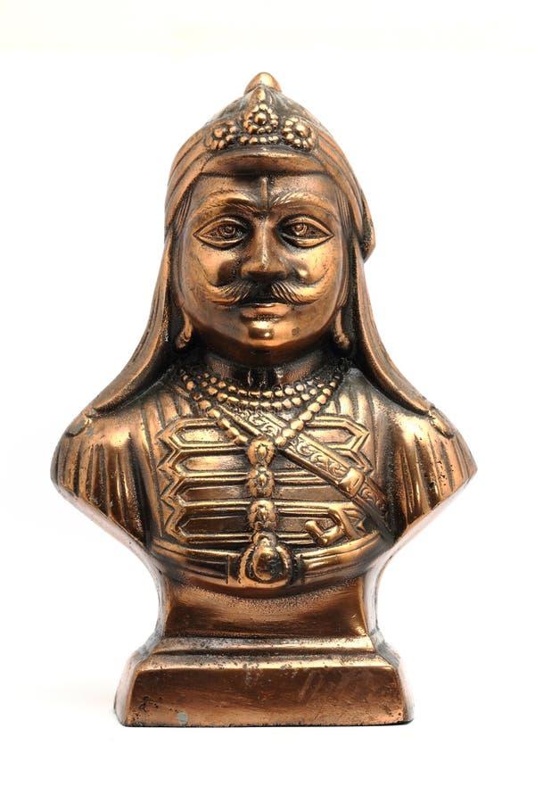 Statue en métal de pratap de maharan photos stock