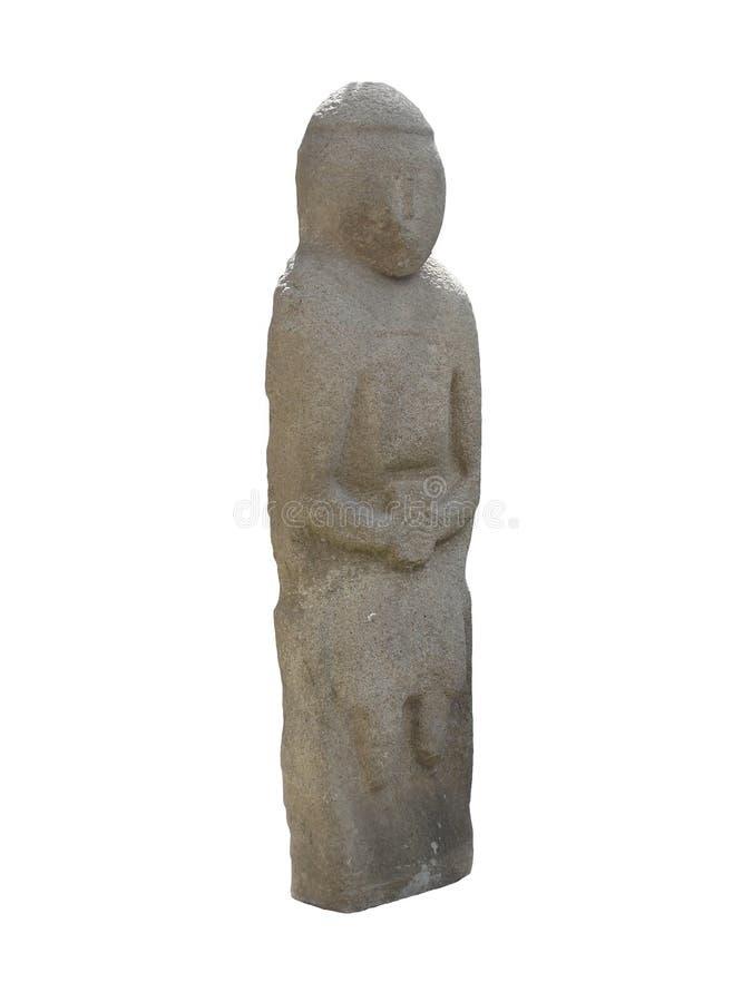 Statue en pierre antique d'un baba de polovets (femme de polovets) photo libre de droits