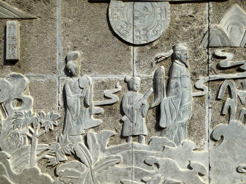 Statue en pierre antique de spéléologie images libres de droits