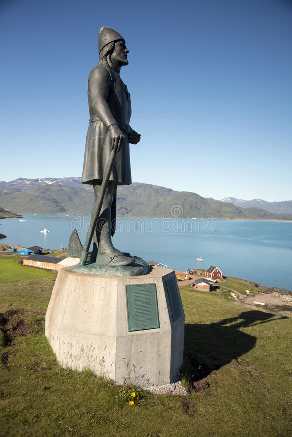 Statue of Eric the Red. Greenland royalty free stock images