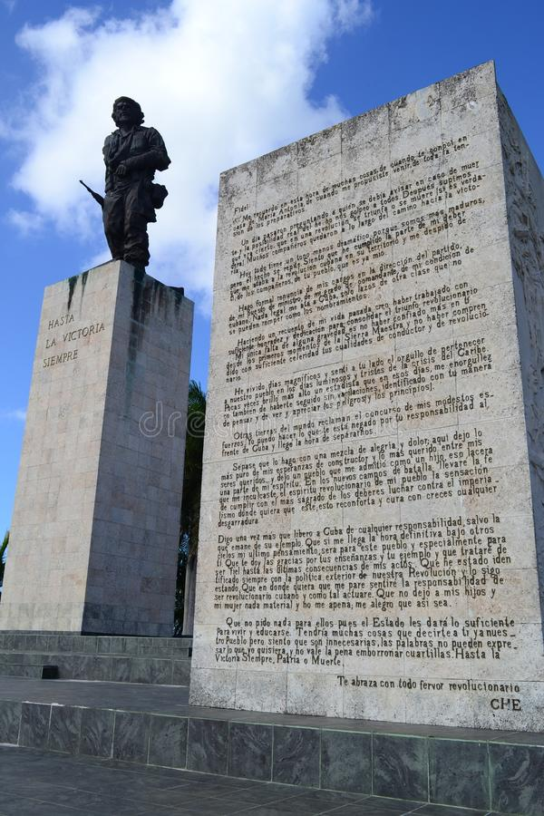 Statue of Ernesto Che Guevara at the Memorial and Mausoleum in Santa Clara, Cuba stock photography