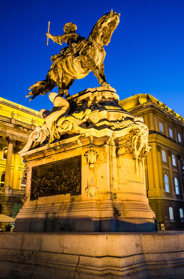 Statue of Eugene of Savoy, Buda Castle royalty free stock photography
