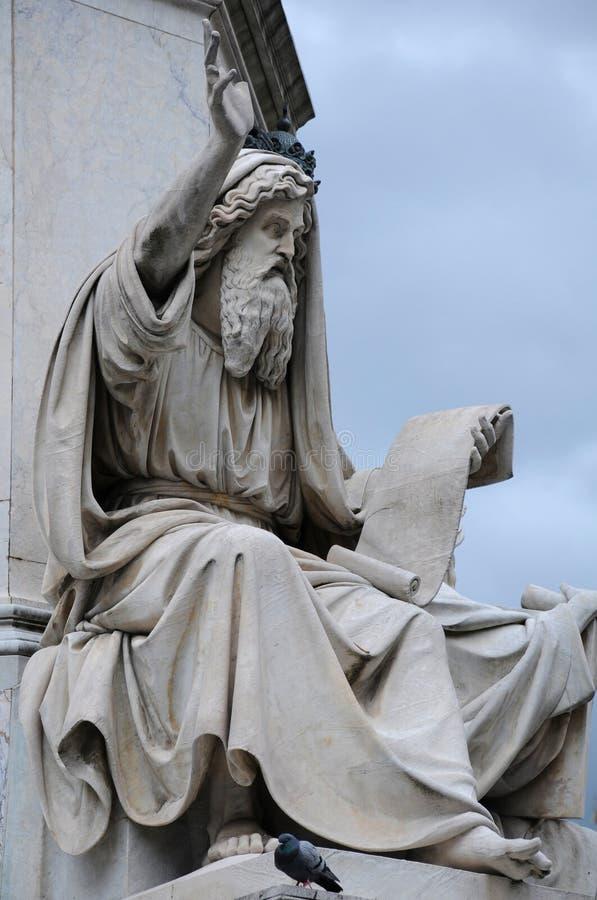 Statue of Ezekiel stock images