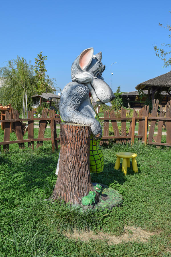 Statue of fairy wolf stock photography