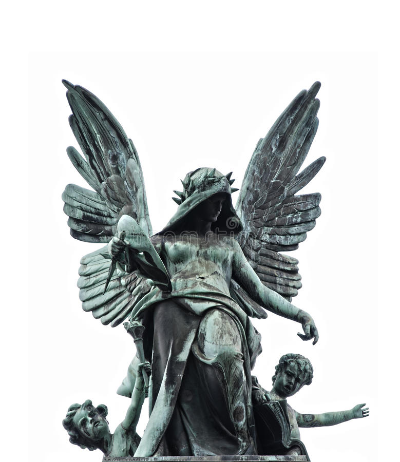 Statue of fallen angel royalty free stock photos