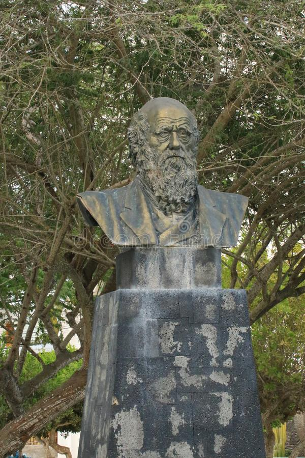 Charles Darwin Statue royalty free stock photo