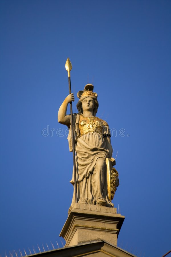 Download Statue of a female warrior stock image. Image of detail - 7612065