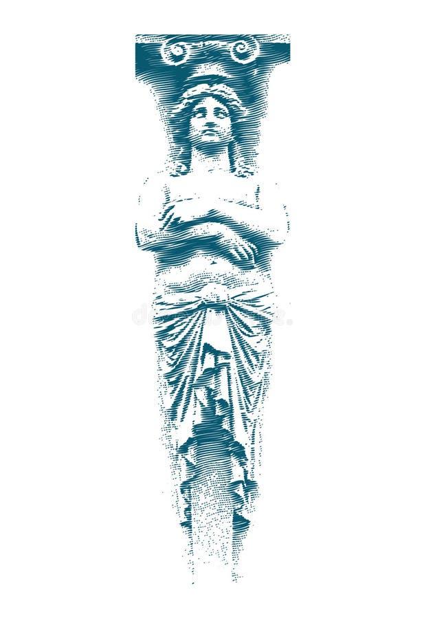 Statue femelle illustration de vecteur