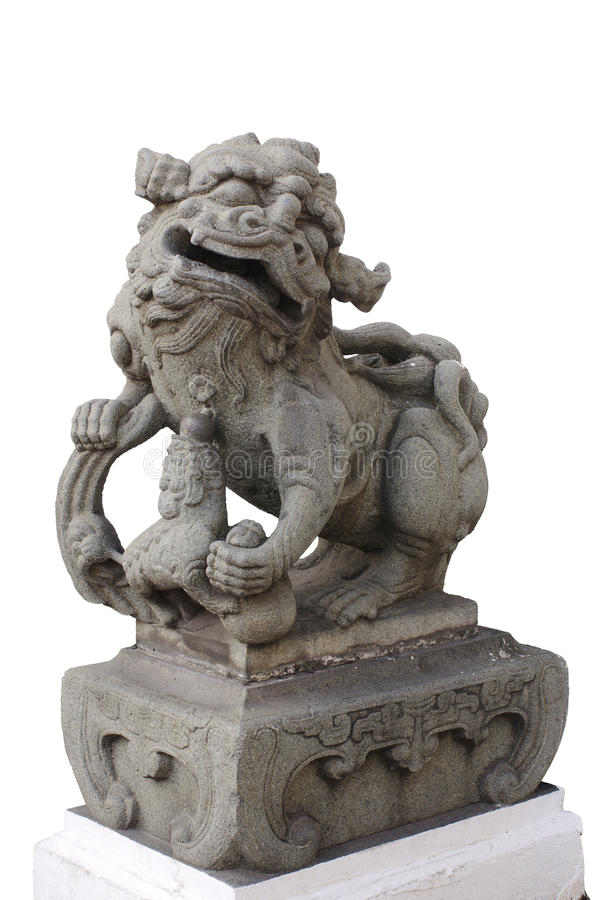 Statue femelle légendaire de dispositif protecteur de lion photo libre de droits