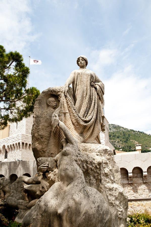 Statue of Fisherman Grimaldi. In Monte Carlo City Monaco stock image