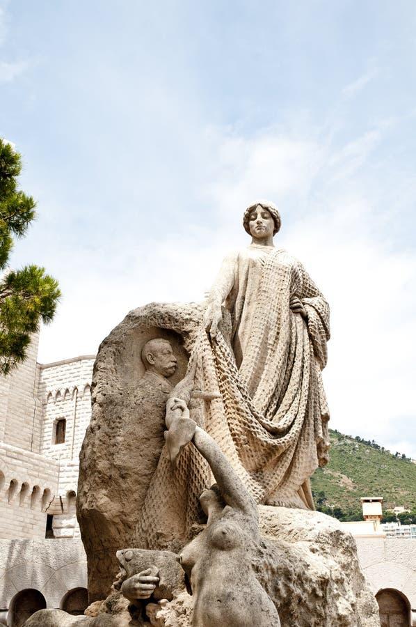 Statue of Fisherman Grimaldi. In Monte Carlo City Monaco royalty free stock image