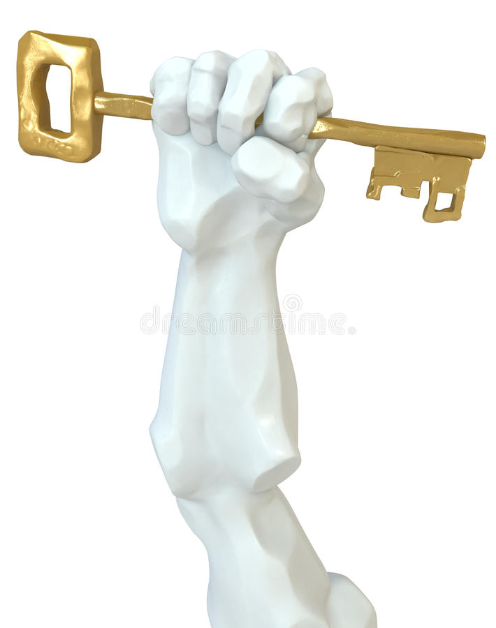 Statue Fist Key Royalty Free Stock Images
