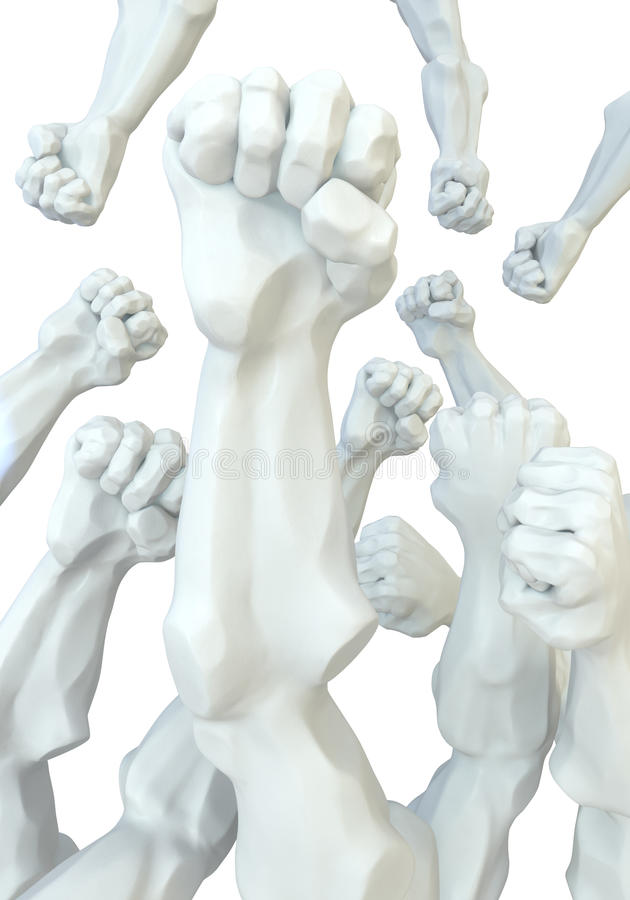 Download Statue Fists stock illustration. Illustration of strong - 20705577