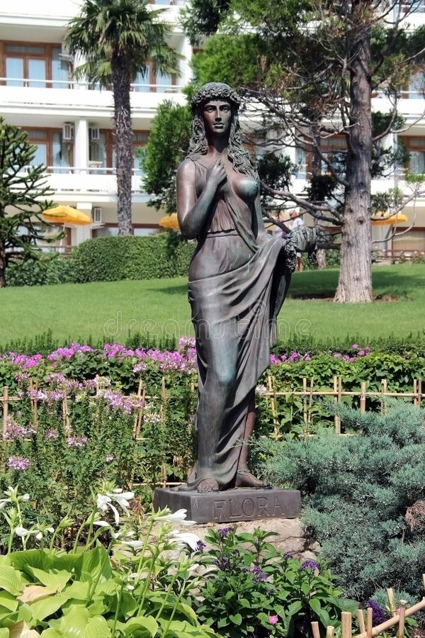 Statue of flora and fauna royalty free stock images
