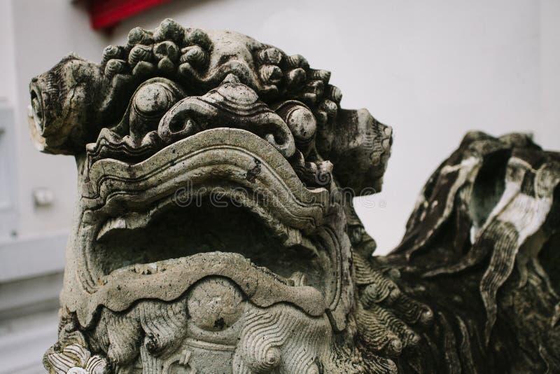Statue Foo Dog de la Thaïlande photographie stock libre de droits