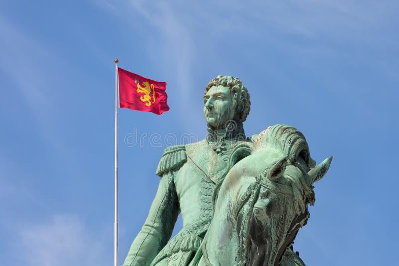 Statue of former Swedish King Karl XIV Johan royalty free stock photos