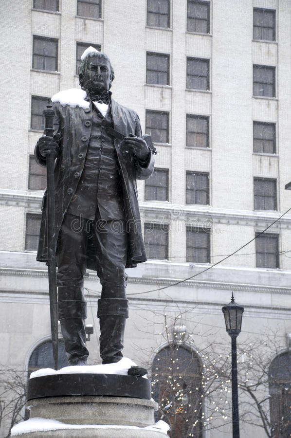Statue of Founder of Cleveland royalty free stock photos
