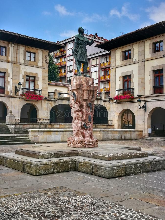 Statue, Fountain, Monument, Town Square stock image