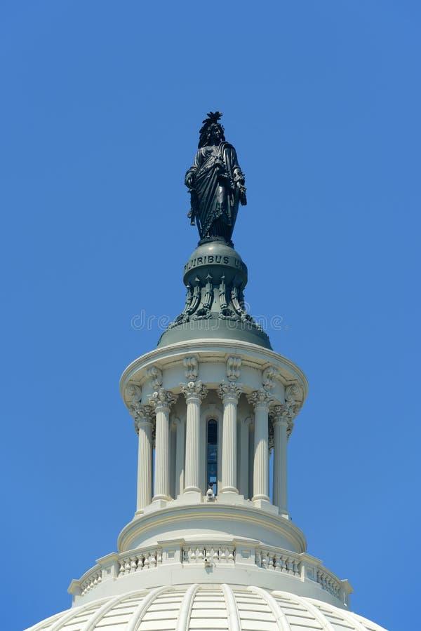 Statue of Freedom, Washington DC, USA royalty free stock images