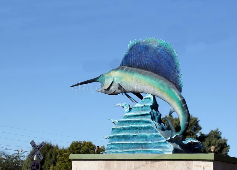 Statue géante d'espadons dans Puerto Penasco, Mexique image stock