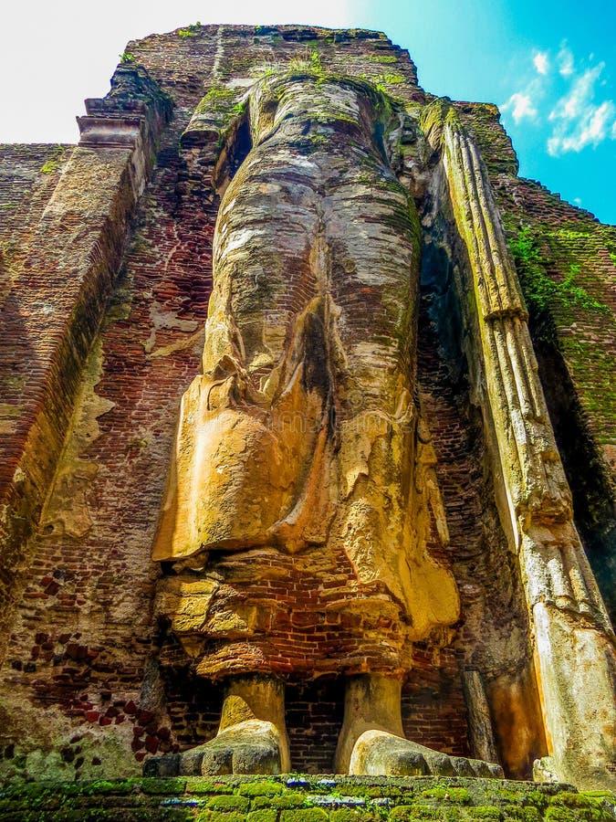 Statue géante du Bouddha Permanent, Polonnaruwa, Sri Lanka image stock