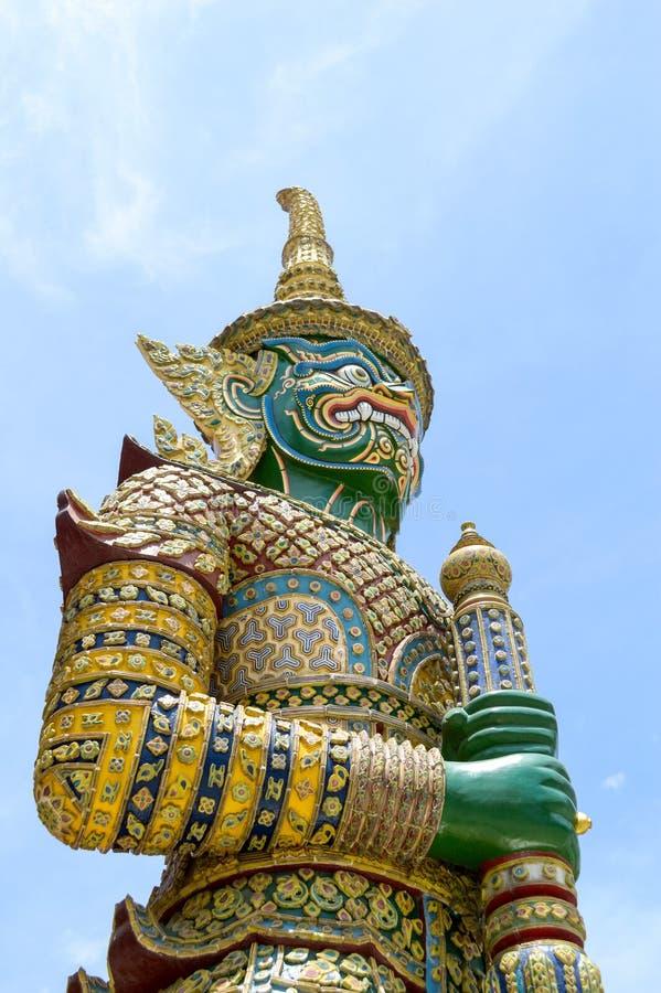 statue géante verte en Thaïlande photographie stock libre de droits