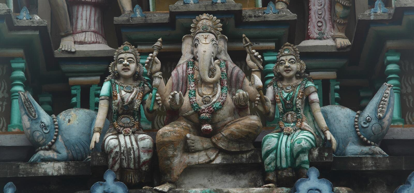 Hindu statues stock images