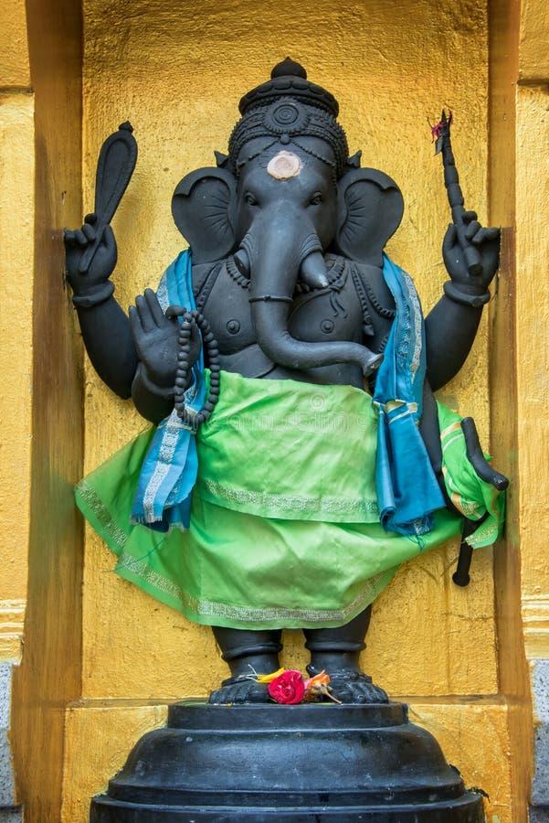 Statue of Ganesha in Sri Veeramakaliamman Temple, Singapore. Statue of Ganesha in Sri Veeramakaliamman Temple in Little India, Singapore royalty free stock photos